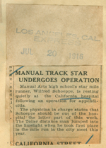 Manual track star undergoes operation
