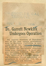 Dr. Garrett Newkirk undergoes operation