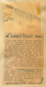 On robber thug's trail