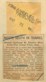 Meets death in tunnel