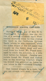 Harrison Frank injured