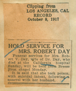 Hold service for Mrs. Robert Day