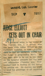 Judge Elliott gets out in chair