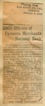 Elect officers of Farmers, Merchants National Bank