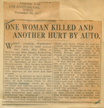 One woman killed and another hurt by auto