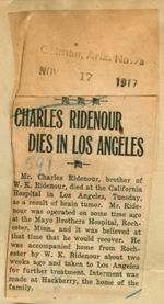 Charles Ridenour dies in Los Angeles