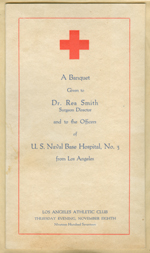 A banquet given to Dr. Rea Smith