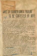 Will of former Santa Paulan to be contested by wife