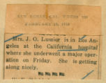 Mrs. S. J. Lussier recovering