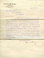Letter from Alexander MacKeigan to Truman Cole