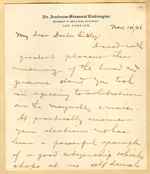 Letter from Andrew Lobingier to Walter Lindley