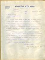 Letter from John Burke to Walter Lindley