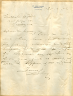 Letter from Henry Sherry to Walter Lindley