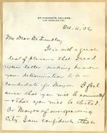 Letter from Joseph S. Glass to Walter Lindley