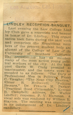 Lindley reception-banquet