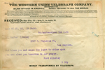 Telegram from Ford and Lindley to Walter Lindley