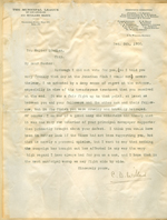 Letter from C. D. Willard to Walter Lindley