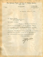 Letter from T. J. Norton to Walter Lindley