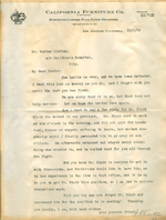 Letter from A. A. Eckstrum to Walter Lindley