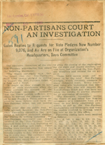 Non-partisans court an investigation