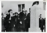 Coptic officials and monument
