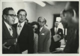 Henry Kissinger, James Robinson and Charles Hedrick at the Coptic Museum