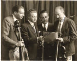 Autographed publicity portrait of a string quartet with Émile Férir