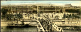 Panoramic post card, Pont et place de la Concorde