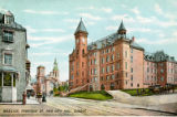 Postcard, Basilica, Fabrique St. and City Hall, Quebec