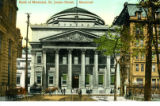 Postcard, Bank of Montreal, St. James Street, Montréal
