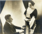 Portrait, Bessie Bartlett Frankel and pianist