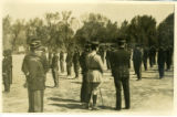 Mexican troops standing at attention