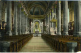 Postcard, Interior of St. Ann's Church (St. Anne's Basilica), Sainte-Anne-de-Beaupré , Québec