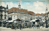 Postcard, Dresden Altmarkt or Old Market Square