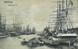 Postcard, Hafenpartie (Port or Harbor), Hamburg