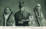 Postcard, Three Brothers, Old Head-Men of the Kak-Von Tons