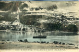 Postcard, S.S. Spokane in Glacier Bay, Alaska