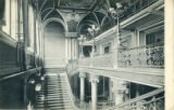 Postcard, Interior of concert house, Leipzig