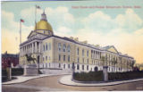 Postcard, State House and Hooker Monument
