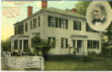 Postcard, Home of Ralph Waldo Emerson