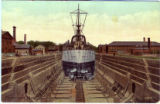 Postcard, Dry Dock, Navy Yard, Charleston, Mass.