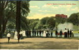 Postcard, View in Boston Common
