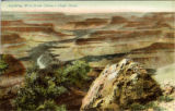 Postcard, Looking west from (Rowe) Hopi Point