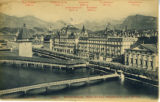 Postcard, Hotel Seidenhof and Lake Lucerne