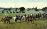 Postcard, Cavalry Manoeuvres, Niagra Camp