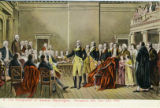 Postcard, The Resignation of General Washington