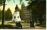 Postcard, Strathcona Monument and Windsor Hotel, Montreal, on Dominion Square