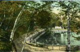 Postcard, The Reservoir and Driveway, Mount Royal, Montréal