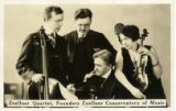 Postcard, photograph of the Zoellner Quartet