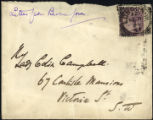 Envelope from Burne-Jones' letter to Campbell, 1894 February 8